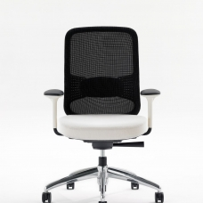 -Projek-Task-Chair-Front-View-Ebony-Mesh-Stone-Frame-4D-Arms