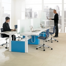 Teknion Low-Height-Adj-Bench-Livello-5