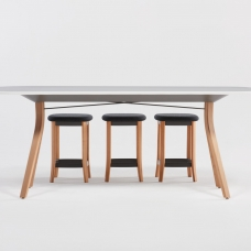 teknion Zones-Canteen_Table_Backless-Stools_Back